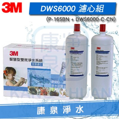 3M 智慧型雙效淨水系統 DWS 6000-ST 替換濾心組(除菌濾心 + 軟水濾心)